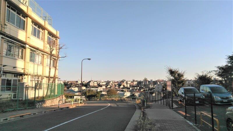 赤羽駅西側 住宅街からの眺め