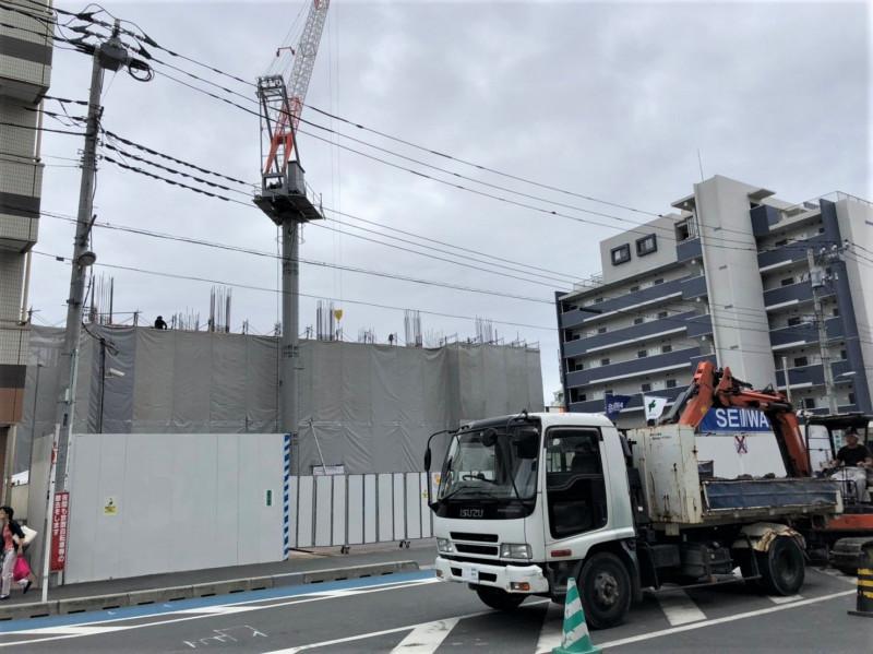 戸田駅付近の工事の様子