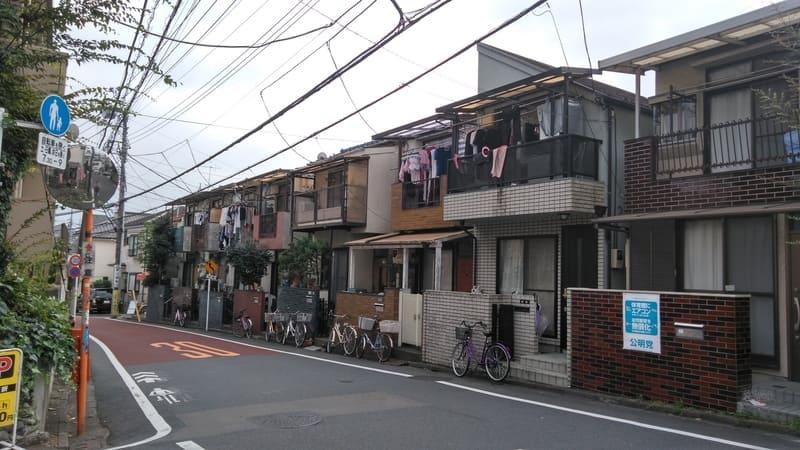 野方駅南側 住宅街 道路