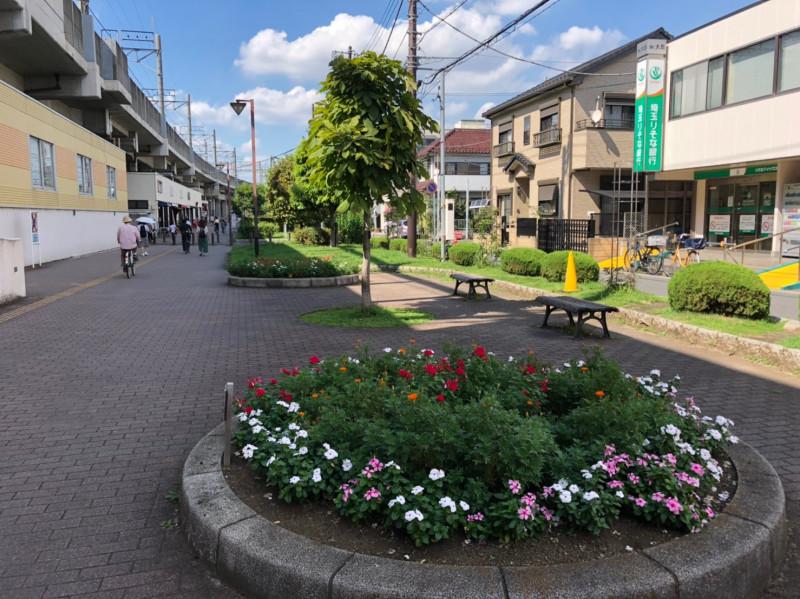 与野本町駅周辺花壇
