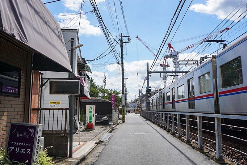 京成線の線路沿い