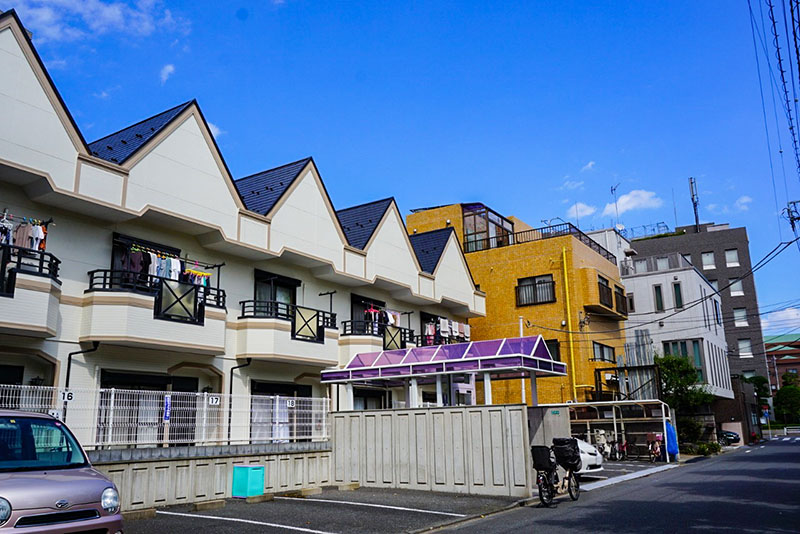篠崎駅通りの東側の住宅