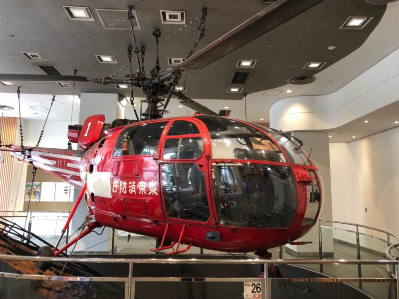 消防博物館の展示消防ヘリ