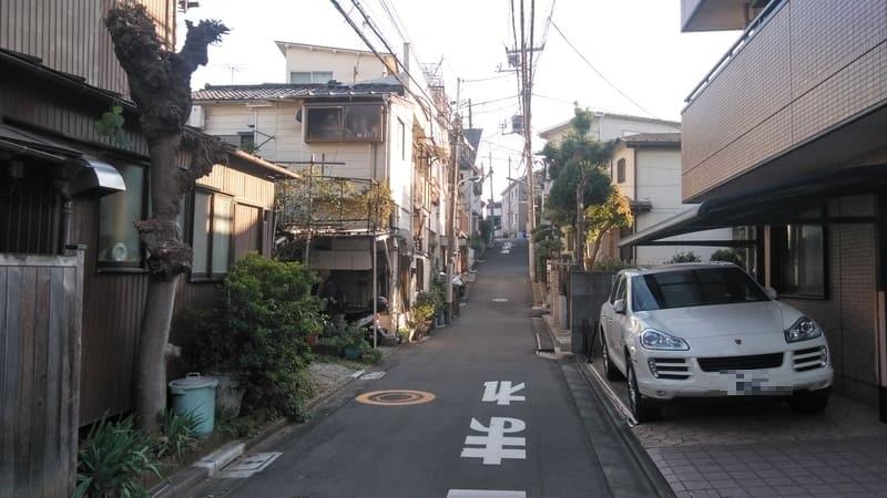 赤羽駅西側 住宅街の路地