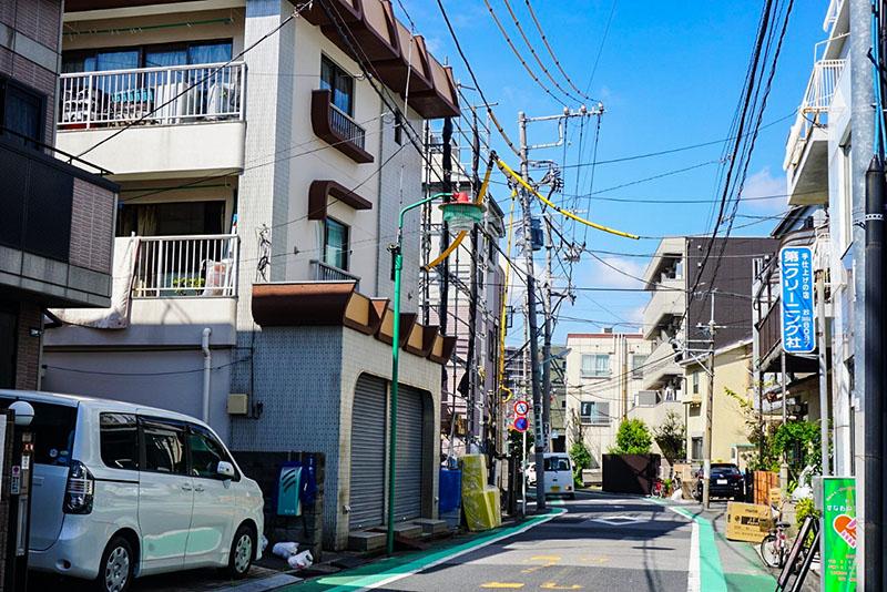 神社から南に住んだ住宅街