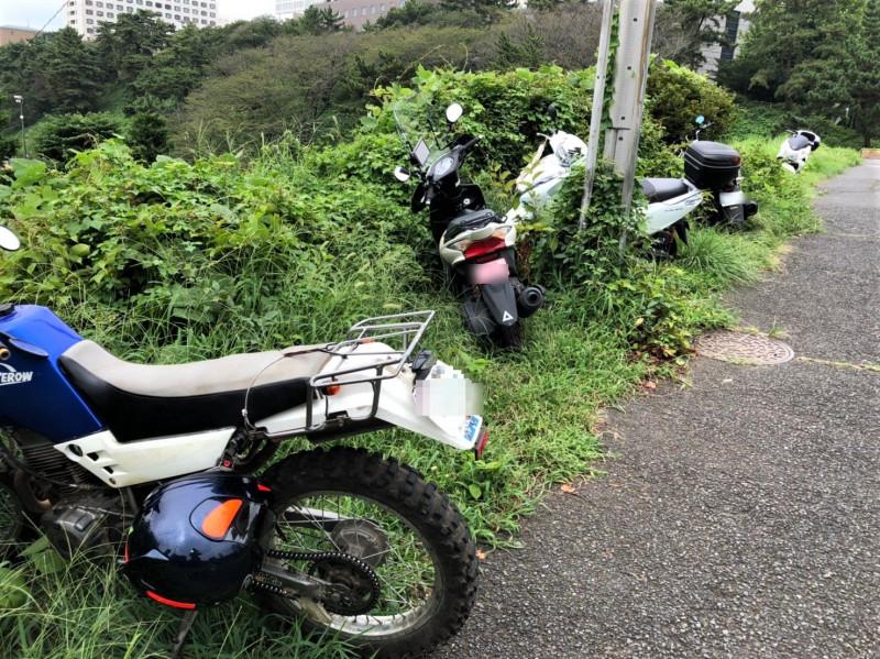 紀尾井坂に放置されたバイク