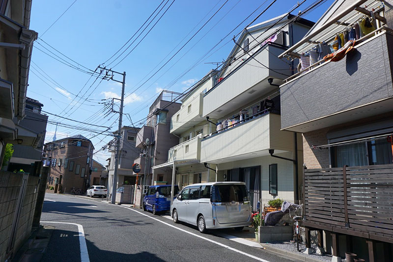 北側の住宅