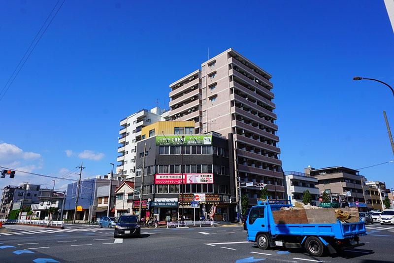 平井大橋西詰の交差点