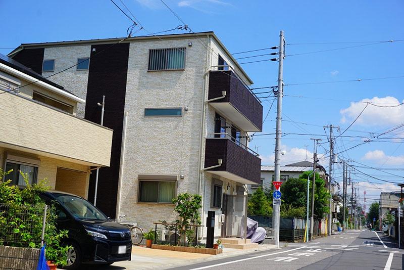 新しい住宅街
