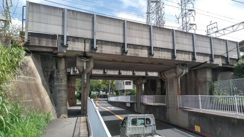 柳瀬川沿い 高架下