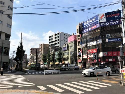 尾竹橋通りの交差点