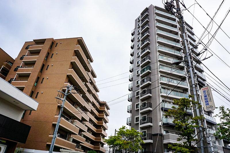 旧日光街道沿いのマンション