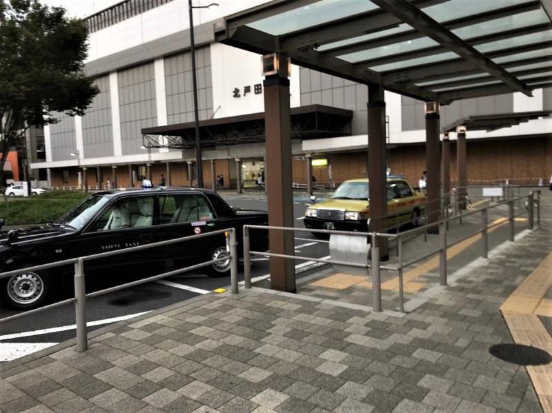 北戸田駅東口前のタクシー乗り場