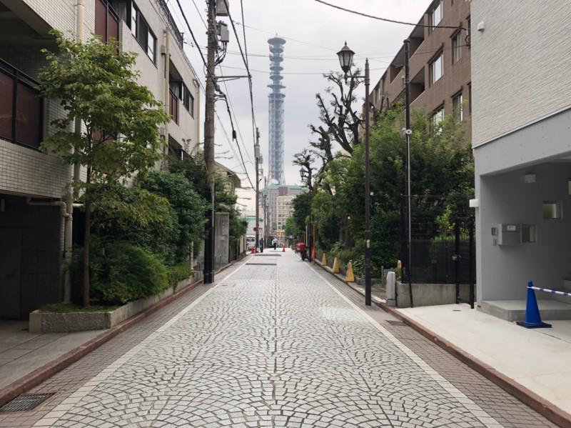 四谷三栄町の街並み
