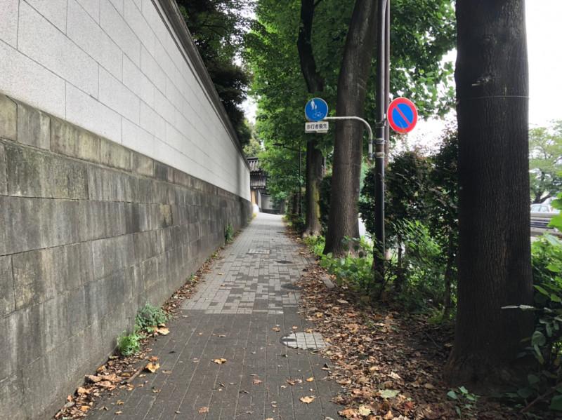 赤坂御用地周辺の外堀通り