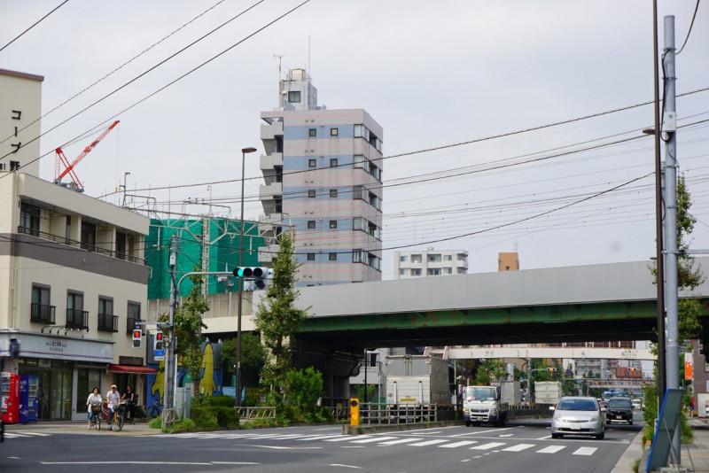 日光街道の交差点