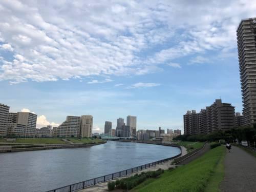 隅田川と周辺のマンション