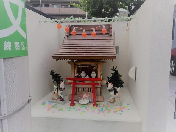 春日町付近の小さい神社