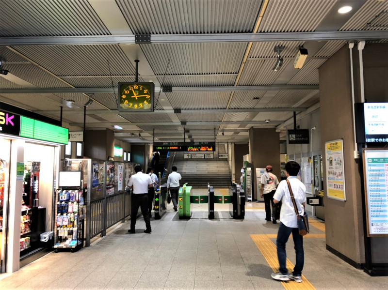 南与野駅の改札
