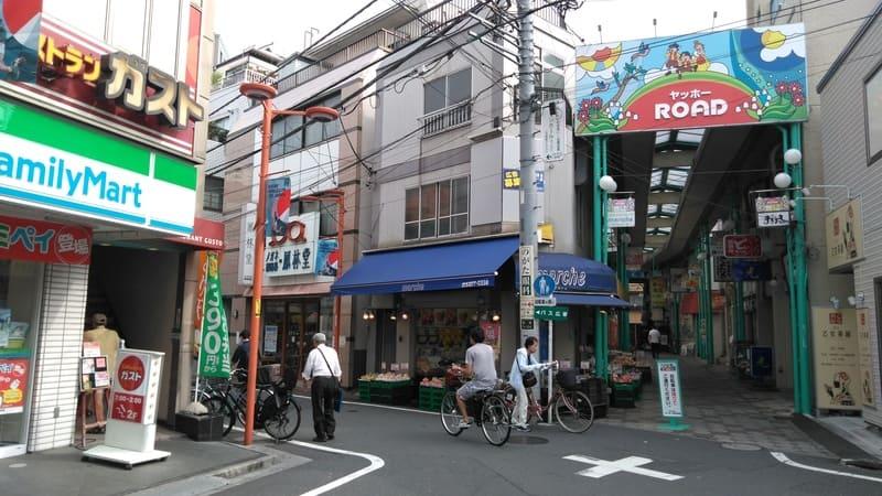 野方駅前商店街 交差点