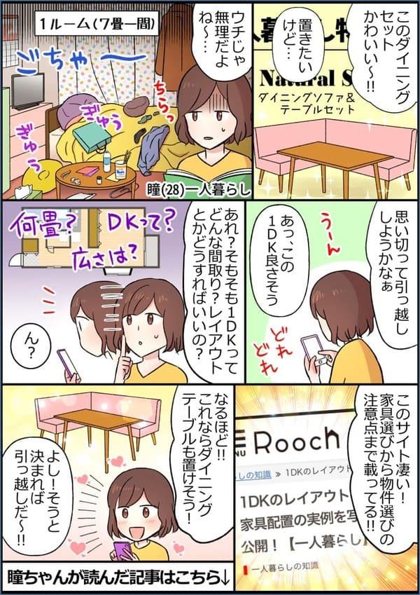 1DK記事の紹介漫画