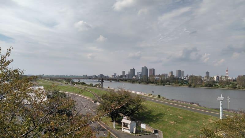 荒川知水資料館からの眺め