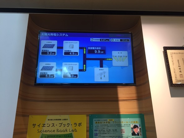 東京都立多摩図書館 太陽光発電
