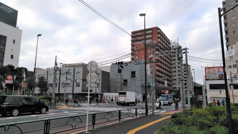西早稲田 諏訪町交差点