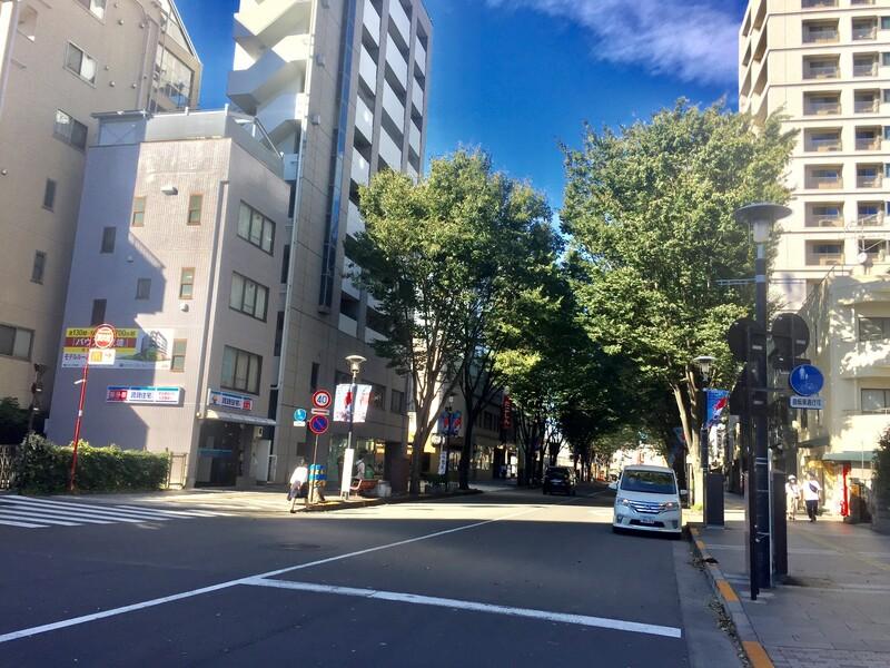 武蔵野市境2丁目付近の道路
