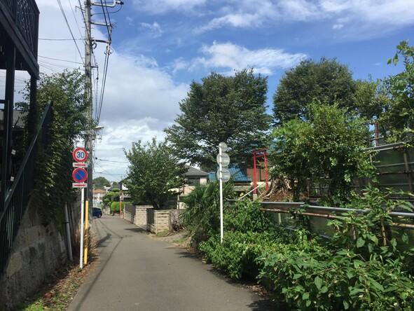 西恋ケ窪1丁目付近