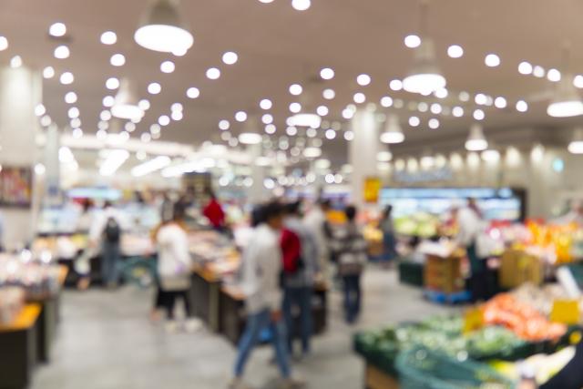 スーパーの店内のイメージ画像