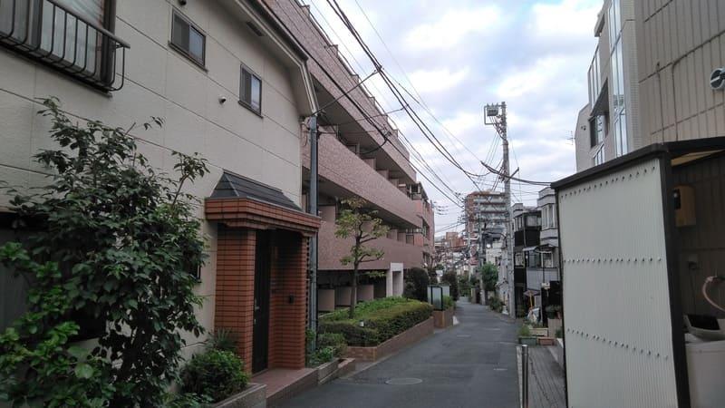 西早稲田東側 住宅街