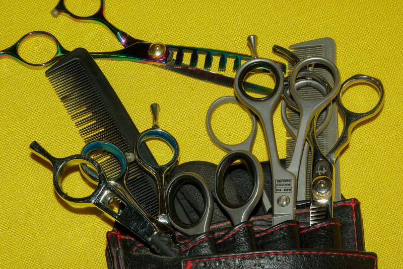 美容師のシザーセット