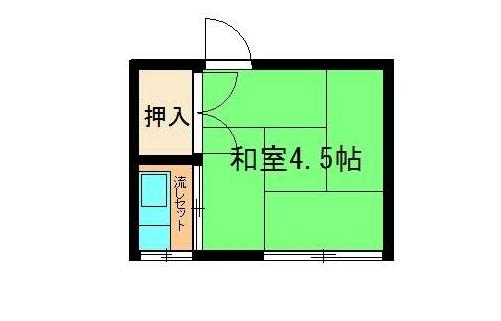 家賃2.8万円のお部屋の間取り図