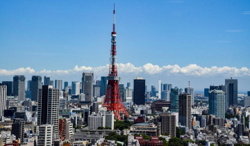 展望から見た東京の街並み