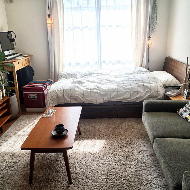 小さめのソファーを配置したレイアウト