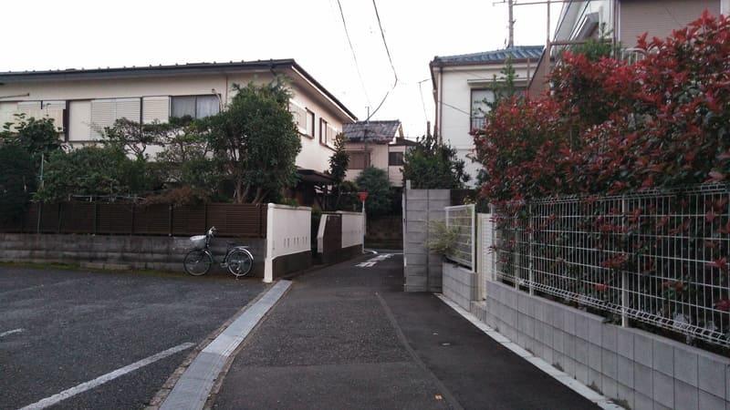 西ヶ原西側 住宅街