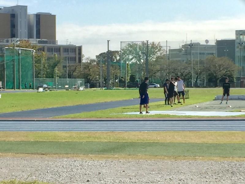 日本大学グラウンド 練習風景