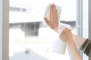 窓の拭き掃除