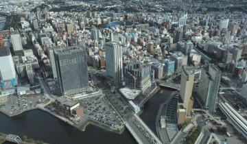 横浜ランドマークタワーからみた景色