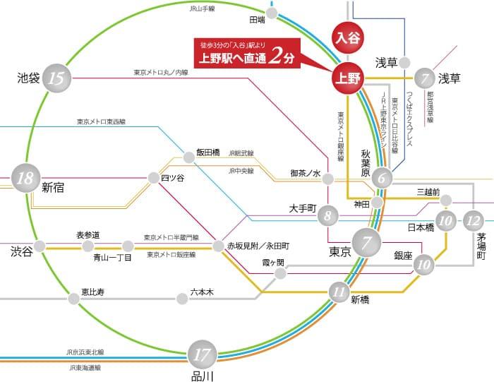 入谷駅アクセス図