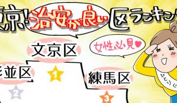 東京の治安が良いランキングのイメージイラスト