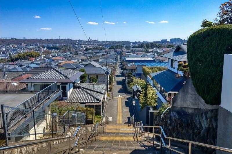 聖蹟桜ヶ丘駅周辺の住宅街