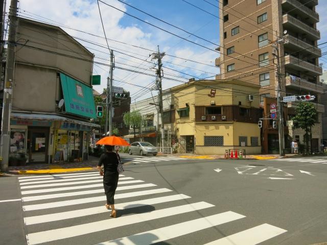 入谷駅周辺の根岸柳通り