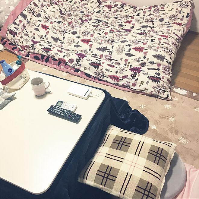 布団+こたつで冬は暖かい部屋