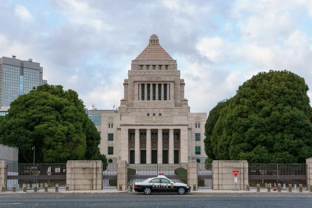 霞ヶ関駅の国会議事堂