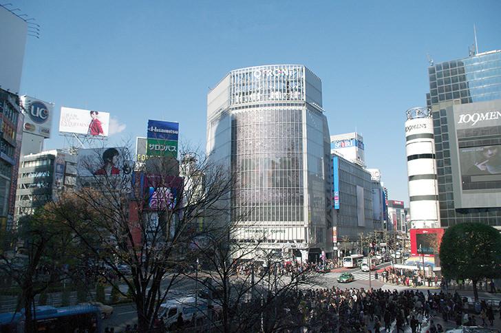 渋谷駅周辺の様子