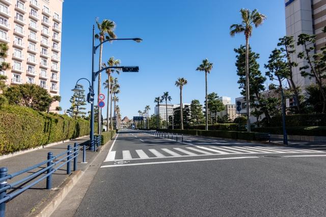 舞浜駅周辺の街並み