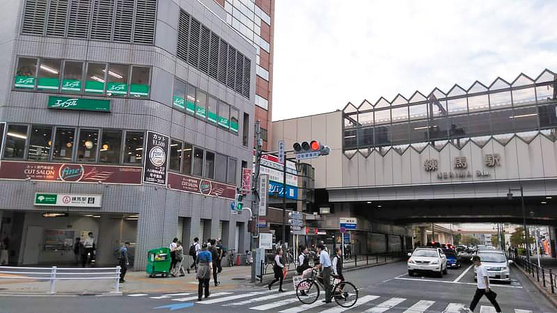 練馬駅南口の風景