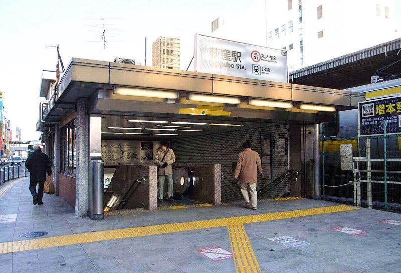 荻窪駅の出口周辺